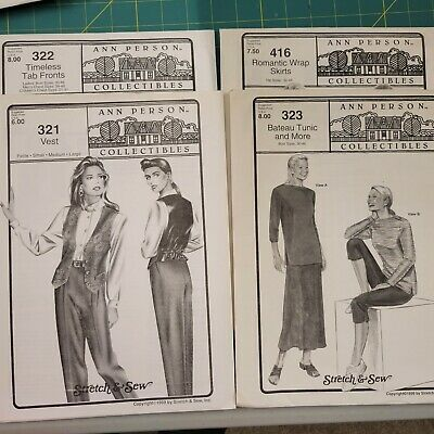 UNCUT Designed by Ann Person Bust Sizes: 32-48 Vintage Stretch /& Sew Pattern 481