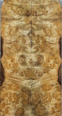"""Spalted Golden Phoebe Wood Bookmatch Scales//Positol Grips 6.1/""""x3.1/""""x0.4/"""" 7063"""