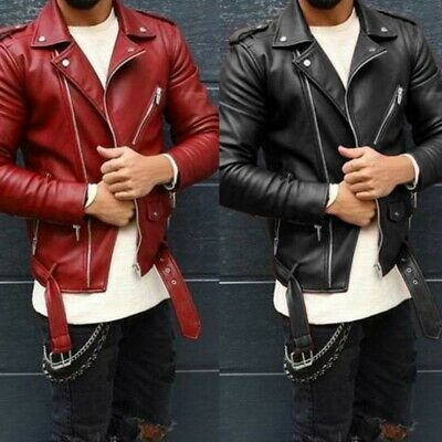 Kenneth Cole Homme Cuir Synthétique Veste Moto