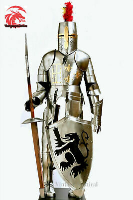 Details about  /Medieval Costume Armors Cosplay Accessory Vintage Gothic Warrior Knight Shoulder