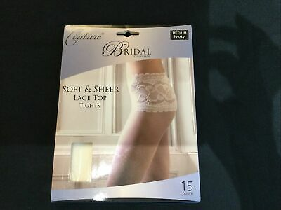 Couture Bridal Soft Sheer Lace Top Tights