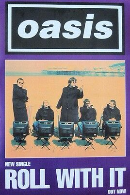 Oasis Roll With It Original Promo Poster
