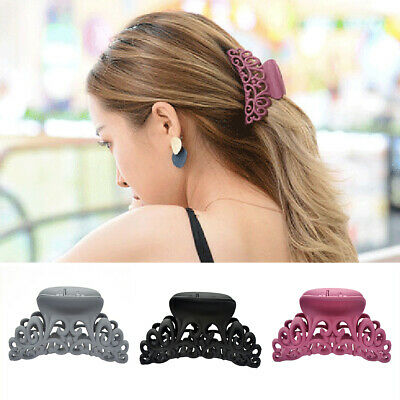 Large Women Scrub Hair Claw Clip Hollow Out Carving Crab Hair Clamp Styling Grip