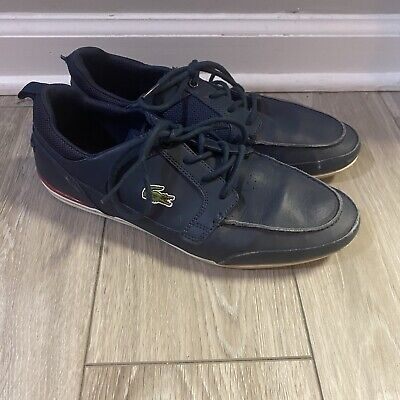 Mens Low-Top Lace-up Leather//Textile Grey Sneakers RRP-£85 Lacoste PA05302