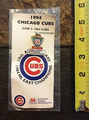 1994 Chicago Cubs National League Championship Anniversary pin Minnie Minoso col
