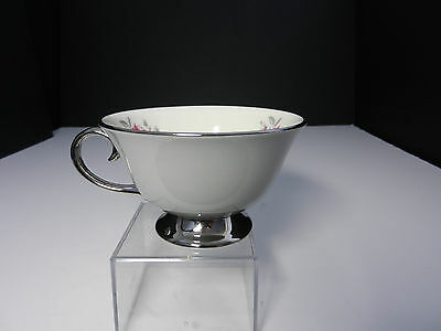 Flintridge Miramar Footed Coffee Cup Platinum Trim TM ca 1964-1972