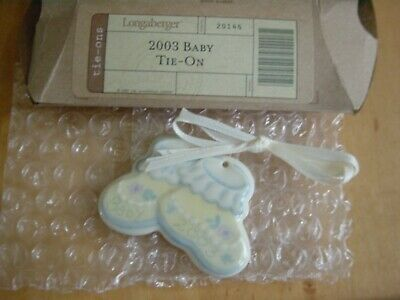 Longaberger 2003 Baby Pottery Tie-On - NEW