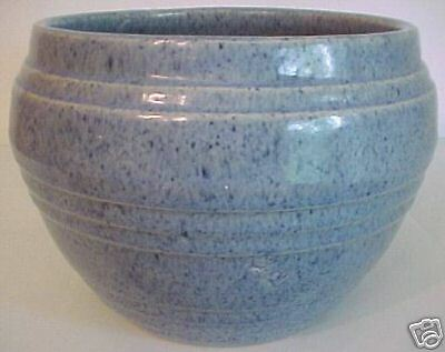 PACIFIC POTTERY BANDED EARLY BLUE DRIP JARDINIERE!