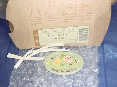 Longaberger 2005 Happy Mothers Day Tie-On #23100 - NEW