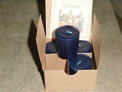 Longaberger Set of 4 Each Proudly American Breeze Votive Candles - NEW