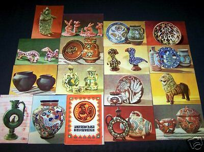 Set of 16 Postcards UKRAINIAN CERAMICS Ukraine 1968