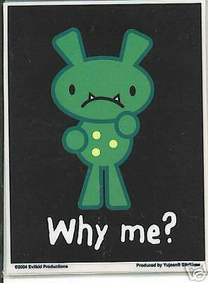 why me? by evilkid sticker
