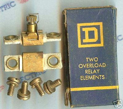 2- New Square D  Heater Coil Element A.59 Relay