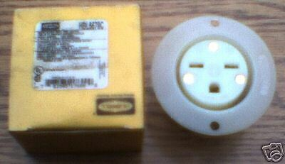 HUBBELL HBL5679C 15 Amp 250 V 6-15R Flanged Receptacle