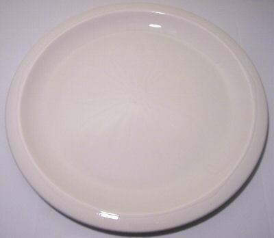FRANCISCAN POTTERY SCULPTURES WHITE DOLLAR DINNER PLATE