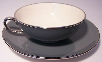 FRANCISCAN POTTERY FINE CHINA SPRUCE CUP/SAUCER SET!