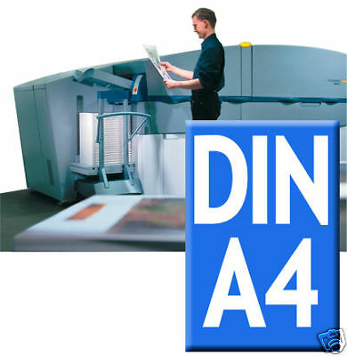 500 x Werbung / Flyer A4 Highend Digitaldruck 4/4 fbg