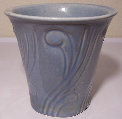 "PACIFIC POTTERY ART DECO 5"" TURQ FLOWER POT!"