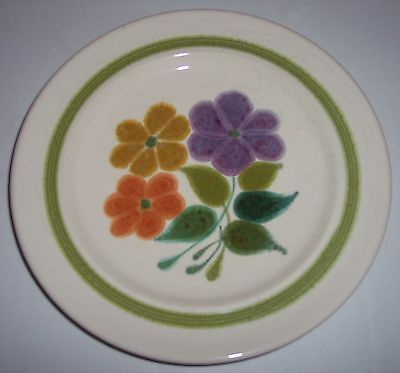 FRANCISCAN POTTERY FLORAL SALAD PLATE!