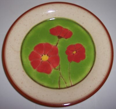 FRANCISCAN POTTERY PEPPER POPPY SALAD PLATE!