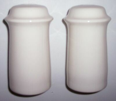 FRANCISCAN POTTERY SCULPTURES WHITE PRIMARY SHAKER SET!