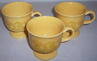 FRANCISCAN POTTERY MIRASOL SET/3 CUPS!
