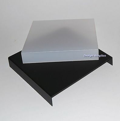 """12"""" Acrylic Frosted Black & White Photo Table Riser"""
