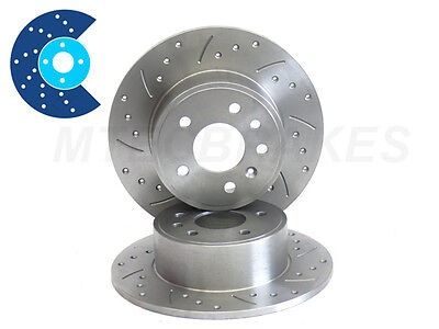 Drilled Grooved Brake Discs 106 205 206 306 309 405 Frt