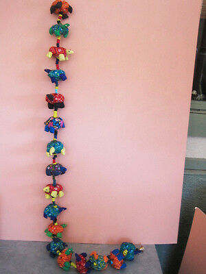 Turtles on a string, 4 ft stuffed turtles wall hanging