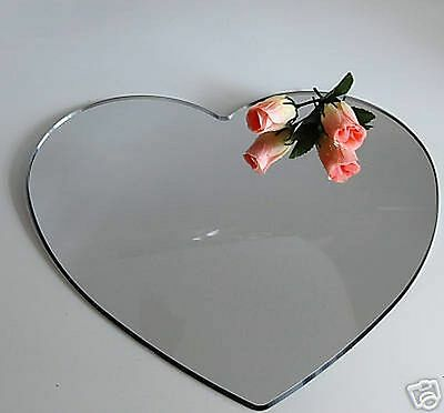 "10"" Mirror Heart Acrylic Cake Plate Stand Wedding"