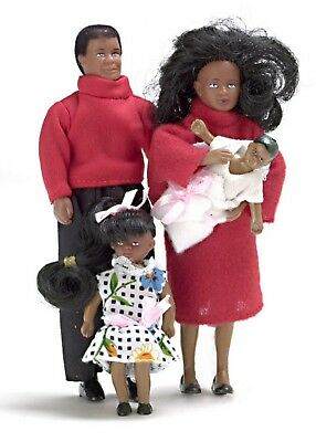 Dollhouse People 4Pc. Modern Doll Family / New