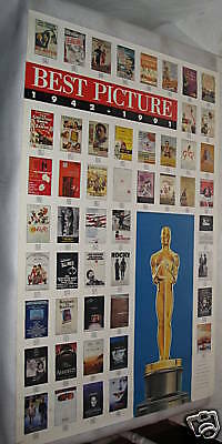 Best Picture 1942-1991 The Oscars Movie Poster Vintage