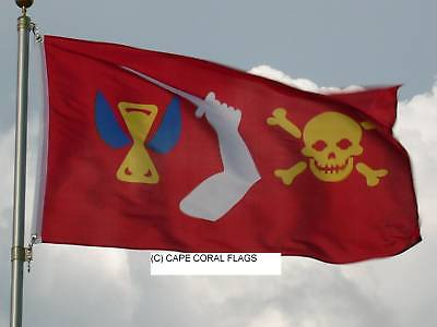 3' X 5' Christopher Moody Jolly Roger Pirate Flag