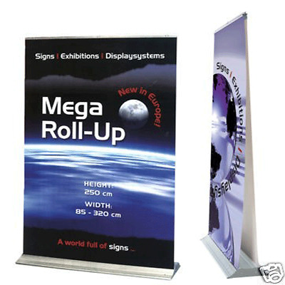 MEGA240 double sided  The biggest Roll-UP  240x250cm