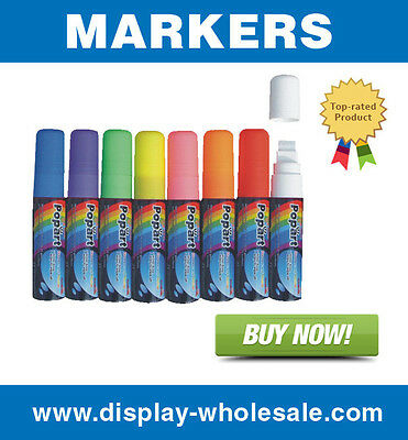 8 color liquid chalk dry erase glass neon marker(Large)