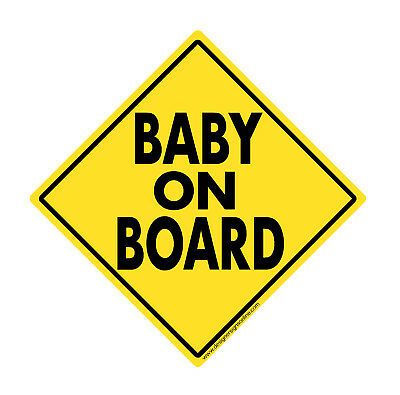 Baby on Board magnet sign REFLECTIVE safety magnetic