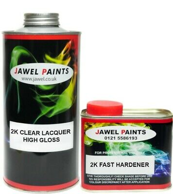 Car Paint 2K Clear Lacquer Omi-Cron MS 1lt Clear + 500ml 2k Hardener