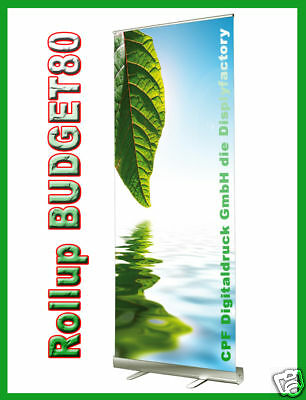 ROLL UP Display BUDGET80 -inkl.Solvent-Druck- 80x200cm