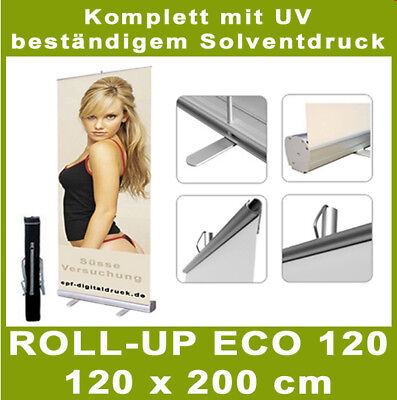 ROLL UP Display ECO120 - inkl.Solvent-Druck - 120x200cm