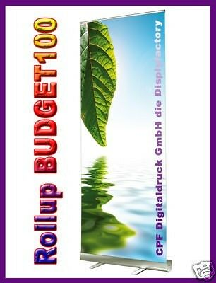 ROLL UP Display BUDGET100 -inkl.Solvent-Druck-100x200cm