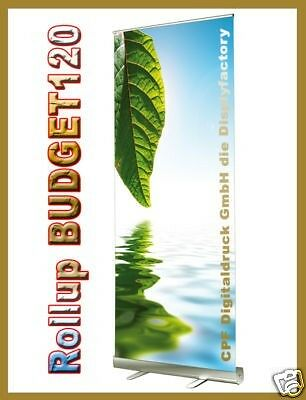 ROLL UP Display BUDGET120 -inkl.Solvent-Druck-120x200cm
