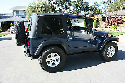 1997-2006 Jeep Wrangler Soft Top Canvas and 3 Tinted Windows Black Diamond