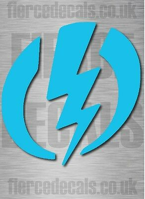 1 BLUE ELECTRIC SNOWBOARD DECAL STICKER GRAPHIC 15cm