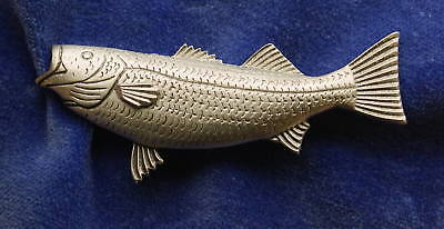 Empire Pewter Striped Bass Fish Pin