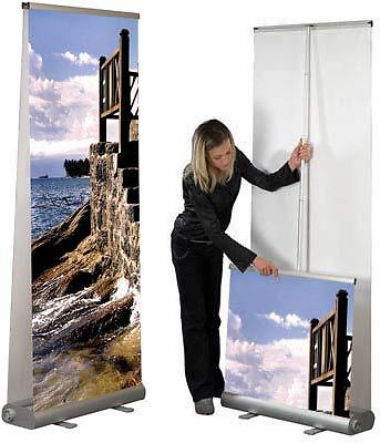ROLL UP Display SMART VARIO80 Double Sided  230cm Höhe