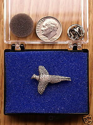 Empire Pewter Pheasant Single Posted Pin / Tie Tack
