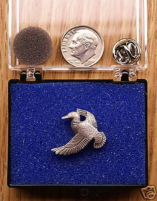 Empire Pewter Mallard Duck Single Posted Pin / Tie Tack