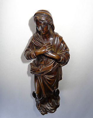 Rare 18th Century Bronze Madonna Virgin Mary Immaculate Conception Jesus Christ!