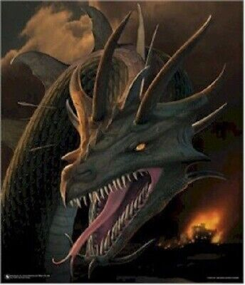 Art Poster ~ Dragons Annihilator Dragon Fantasy