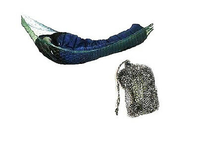 MILITARY HAMMOCK mesh tree hanging net Travel bed camping backpacking Army Olive
